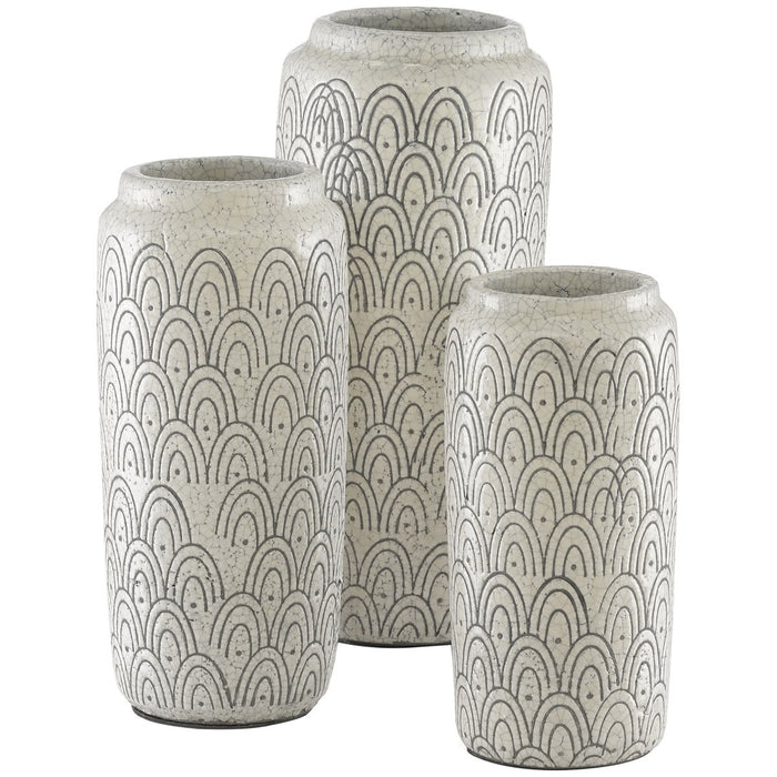 Currey and Company Lapine Vase, Set of 3