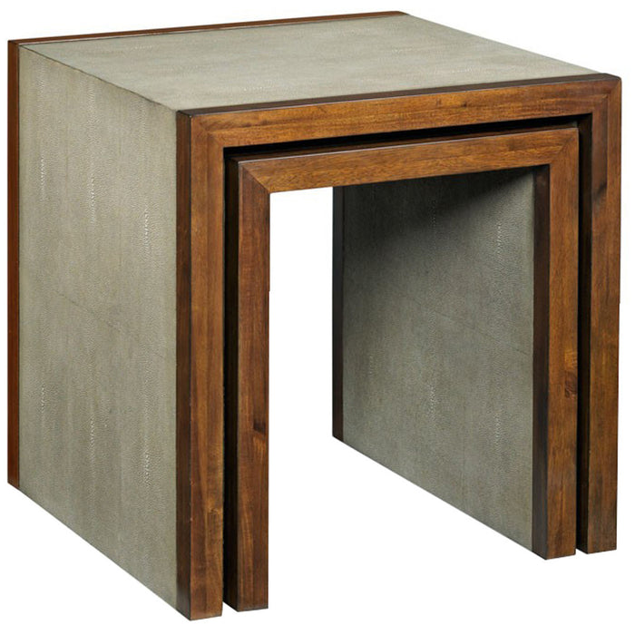 Woodbridge Furniture Savoye Shagreen Nest Of Tables