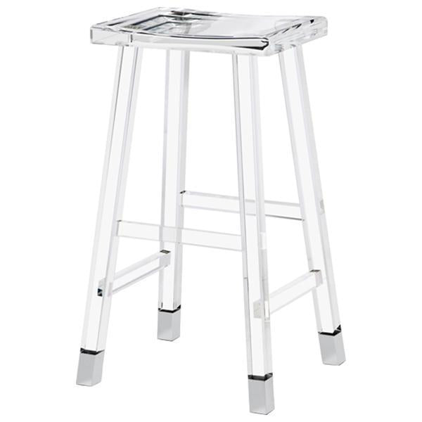 Interlude Home Reva Bar Stool - Nickel