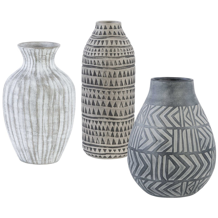 Uttermost Natchez Geometric Vases, 3-Piece Set