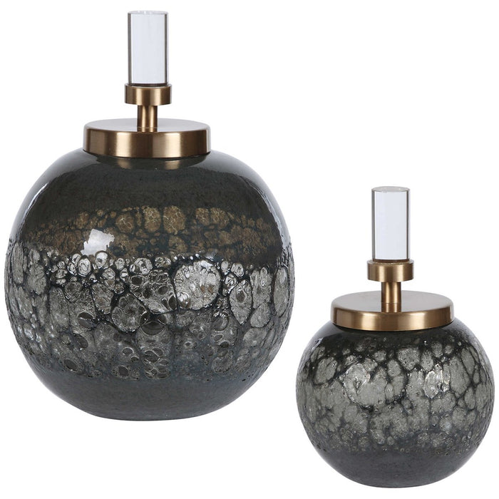 Uttermost Cessair Art Glass Bottles - Set of 2
