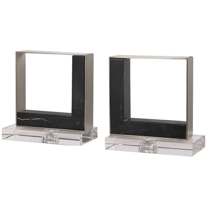 Uttermost Tilman Modern Marble Bookends, 2-Piece Set