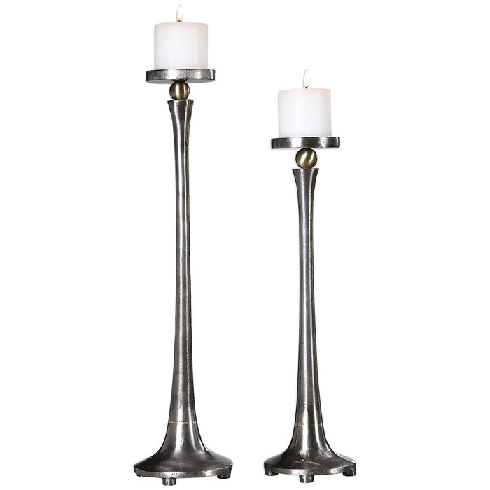Uttermost Aliso Cast Iron Candleholders Set of 2