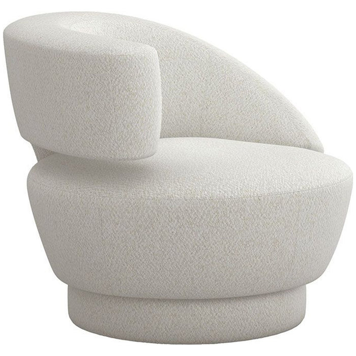 Interlude Home Arabella Swivel Chair - Shearling