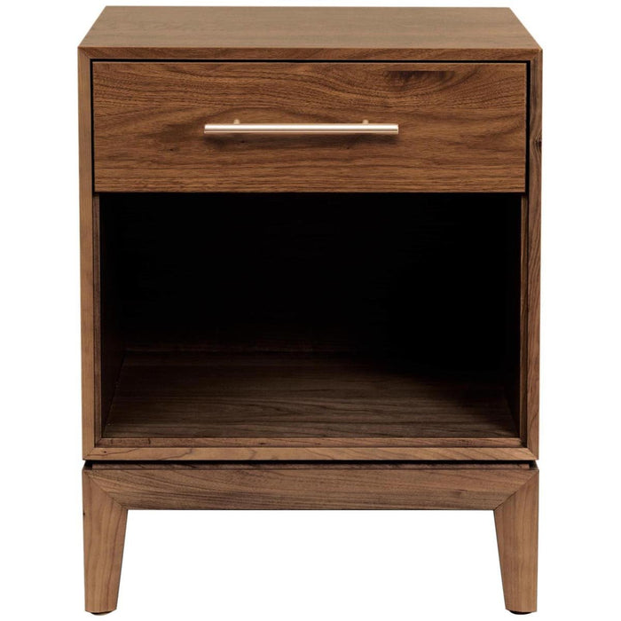 Copeland Furniture Mansfield 1-Drawer Nightstand in Walnut