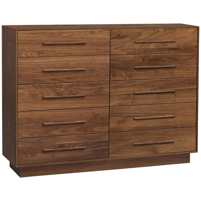 Copeland Furniture Moduluxe 10-Drawer Dresser in Walnut