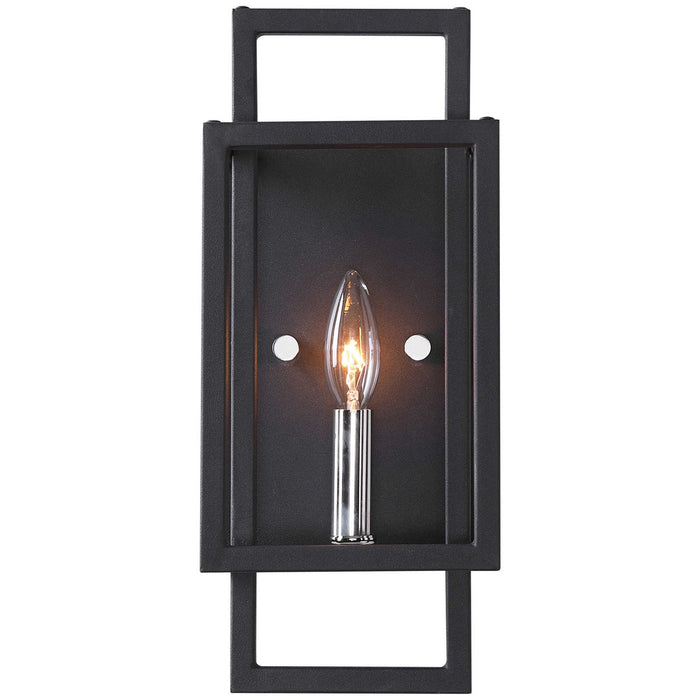 Uttermost Quadrangle 1-Light Black Sconce