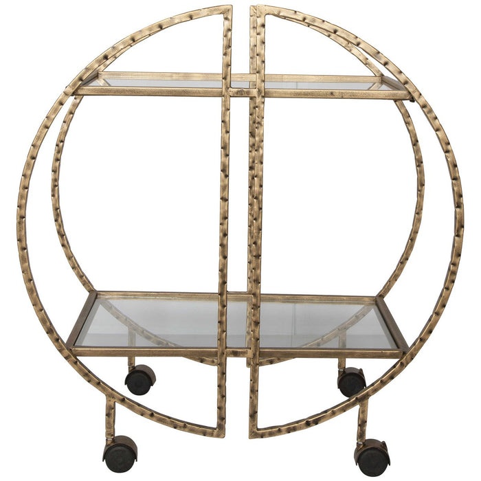Uttermost Zelina Gold Bar Cart