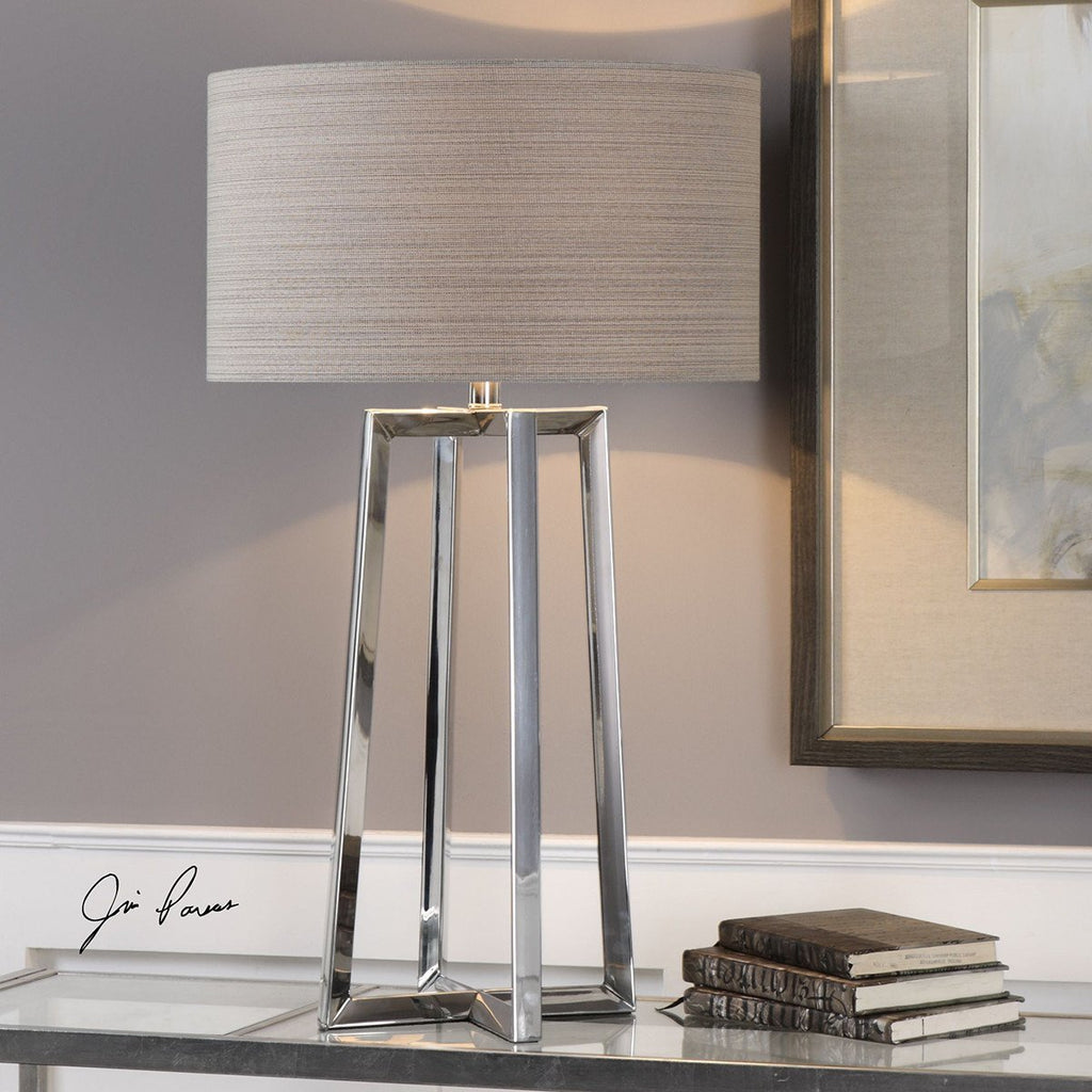 Uttermost Keokee Stainless Steel Table Lamp