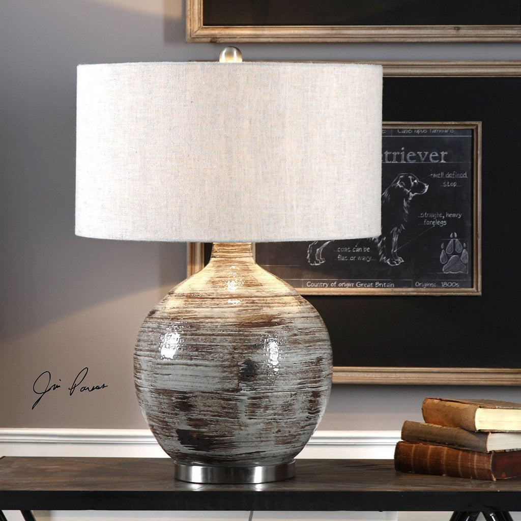 Uttermost Tamula Distressed Ivory Table Lamp