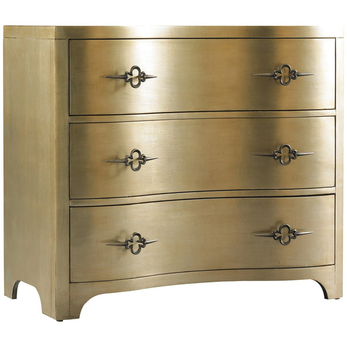 Hooker Furniture Sanctuary 3-Drawer Shaped Front Gold Chest