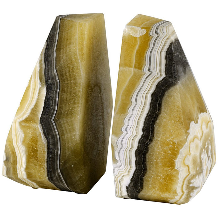 Palecek Sonora Onyx Bookends, Set of 2