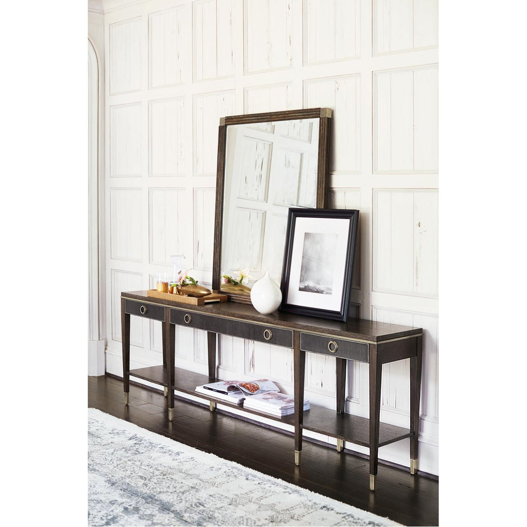 Bernhardt Clarendon Arabica Three Drawers Console Table