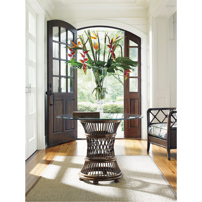 Tommy Bahama Bali Hai Aruba Dining Table with Glass Top