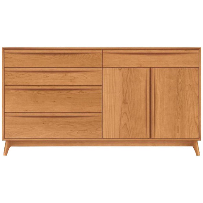 Copeland Furniture Catalina 4 Drawer, 1 Drawer Over 2 Doors Buffet