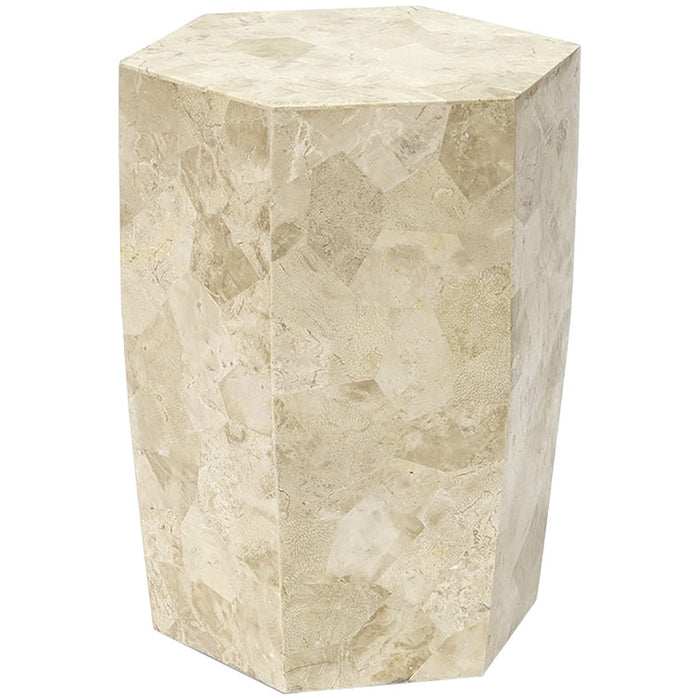 Palecek Otama Stone Outdoor Stool/Side Table