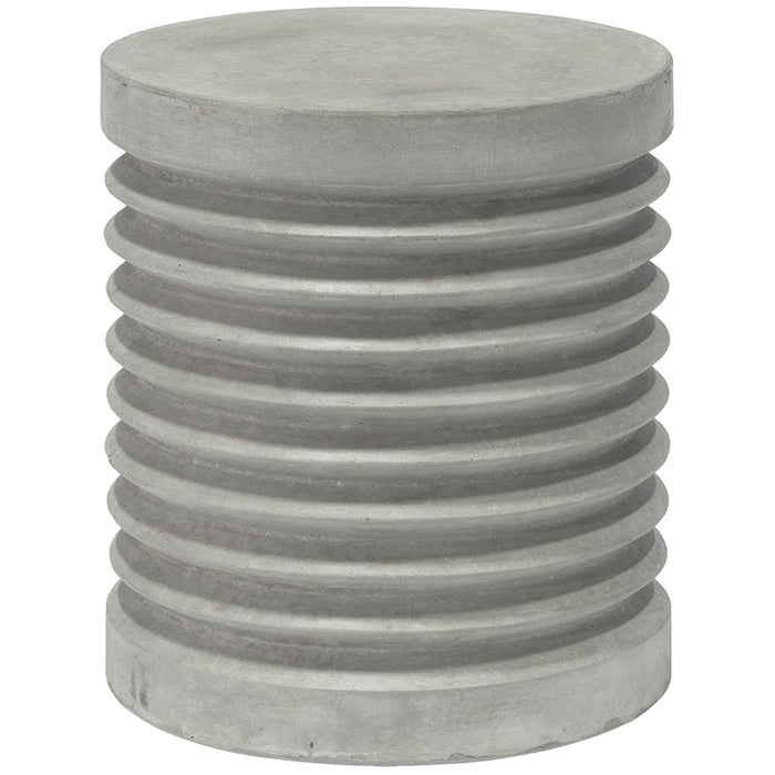 Palecek Pompeii Outdoor Stool/Table, Grey