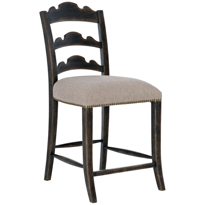 Hooker Furniture La Grange Twin Sisters Ladderback Counter Stool