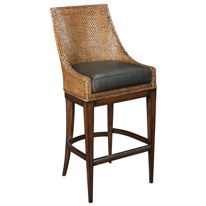 Woodbridge Furniture Umber Woven Leather Bar Stool