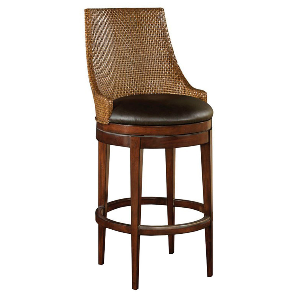 Woodbridge furniture dark brown woven leather bar stool stools stephanie cohen home