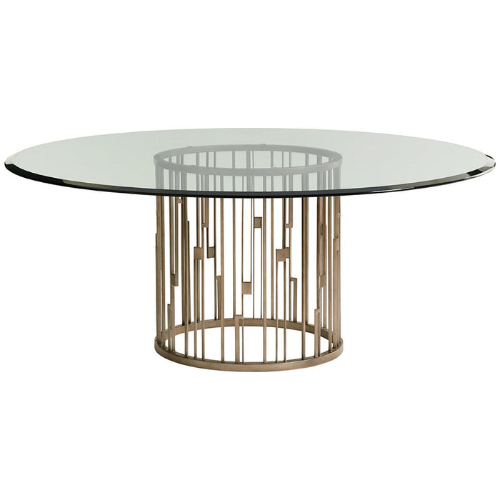 Lexington Shadow Play Rendezvous Round Metal Dining Table