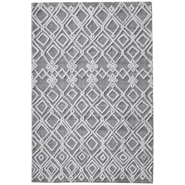 Uttermost Sieano Gray-Ivory Woven Natural Gray Wool Rug