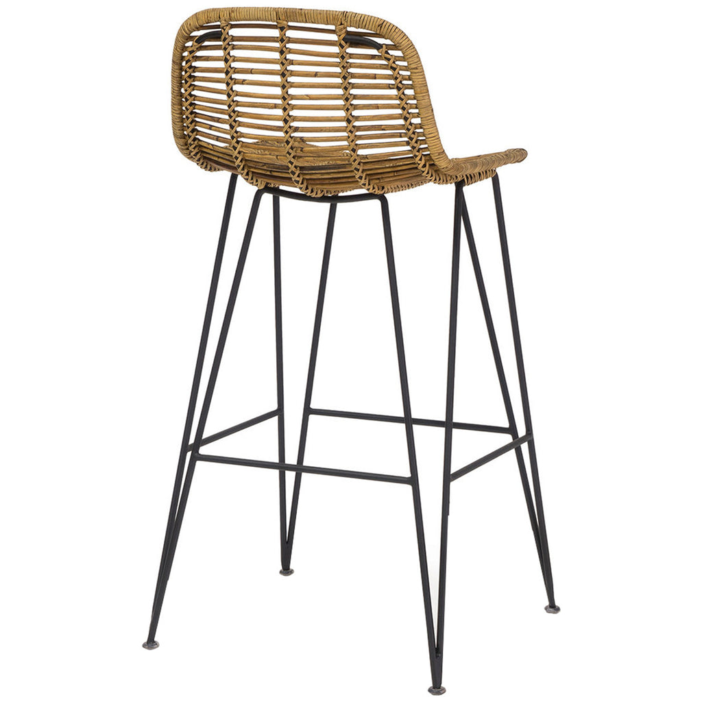 "Palecek Hermosa 24"" Counter Barstool Natural"