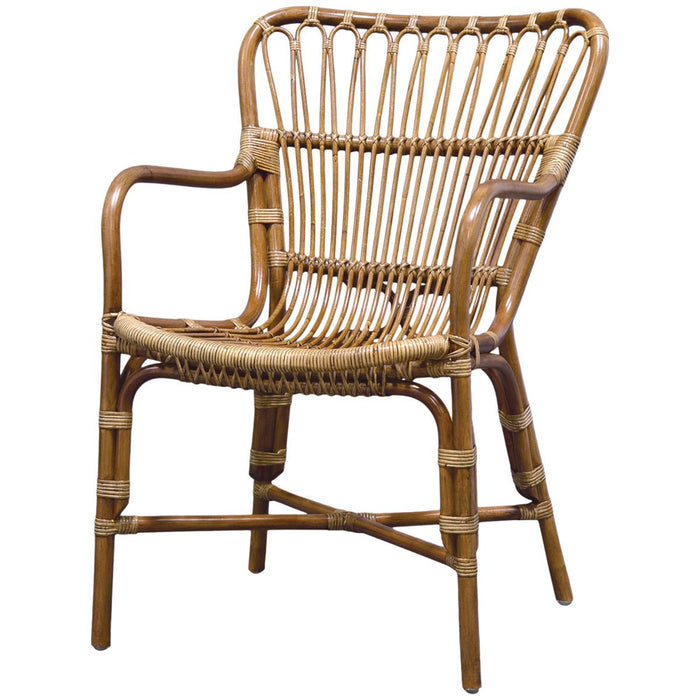 Palecek Retro Rattan Dining Arm Chair