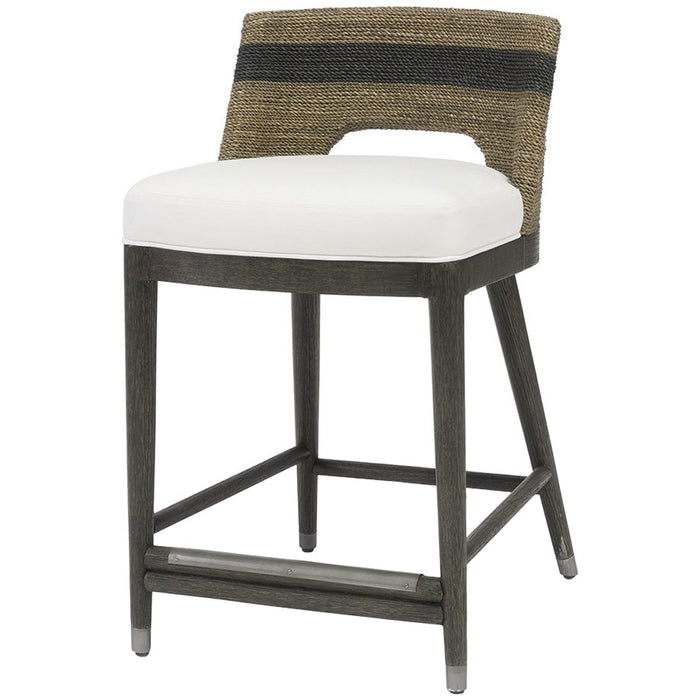 "Palecek Fritz Rope 24"" Counter Stool"