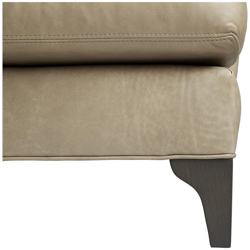 Arteriors Klein Sofa - Grey Ash/Mushroom Leather