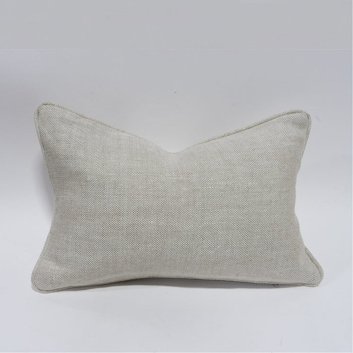 "Palecek 18"" x 12"" Rectangular Down Pillow with Welt"