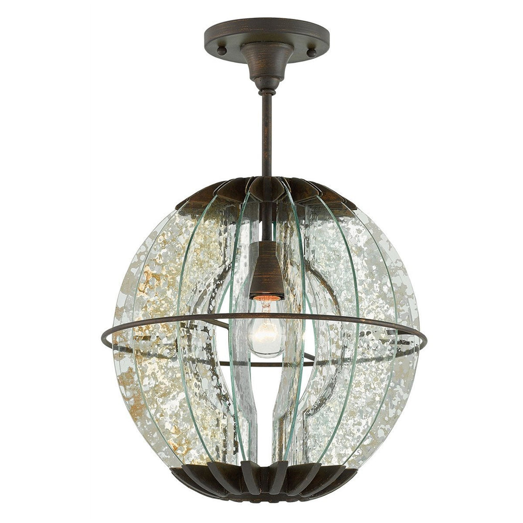 Currey and Company Zanzibar Pendants with Semi-Flush
