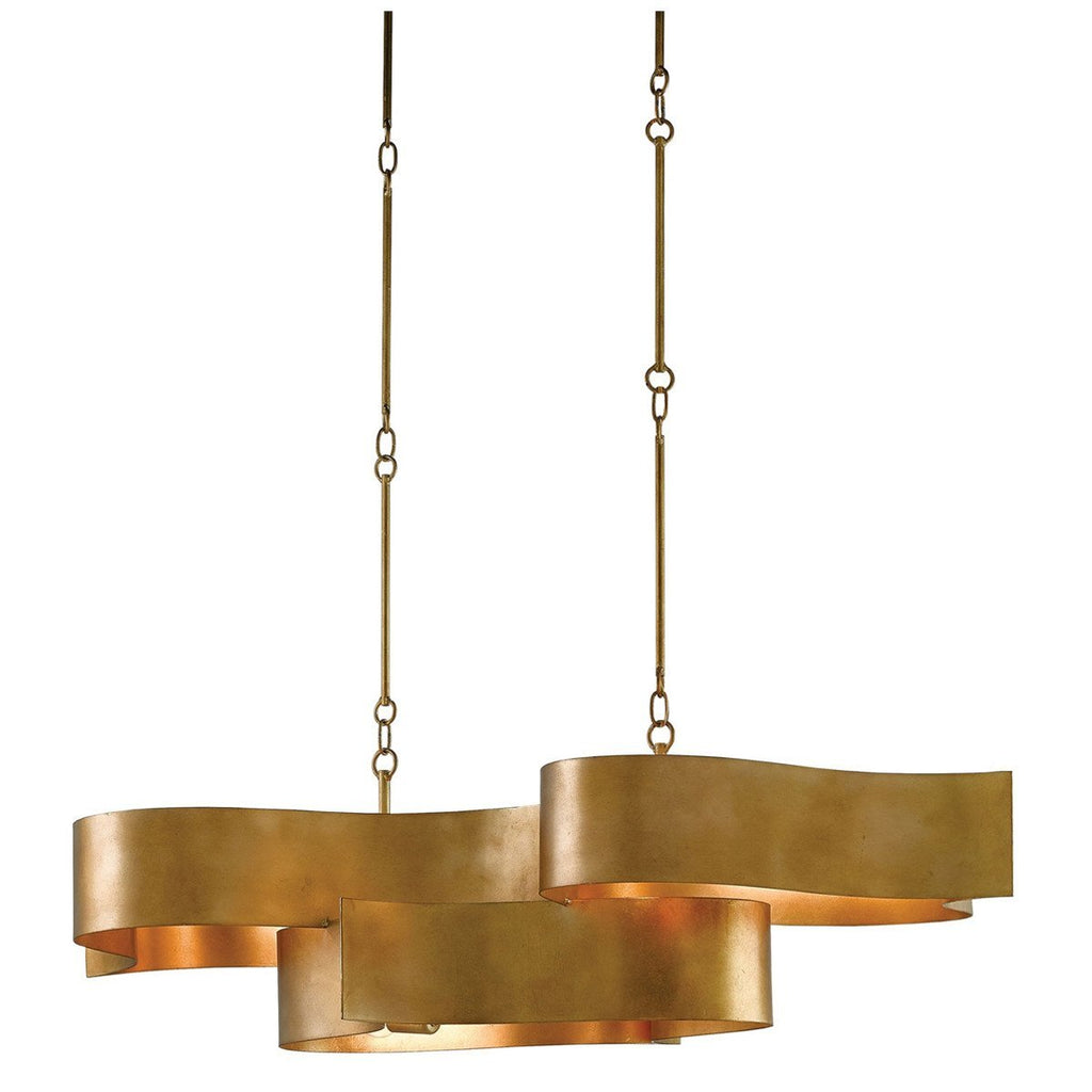 Currey and Company Grand Lotus Oval Chandelier
