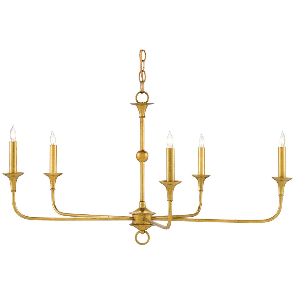 Currey and Company Nottaway Gold Small Chandelier