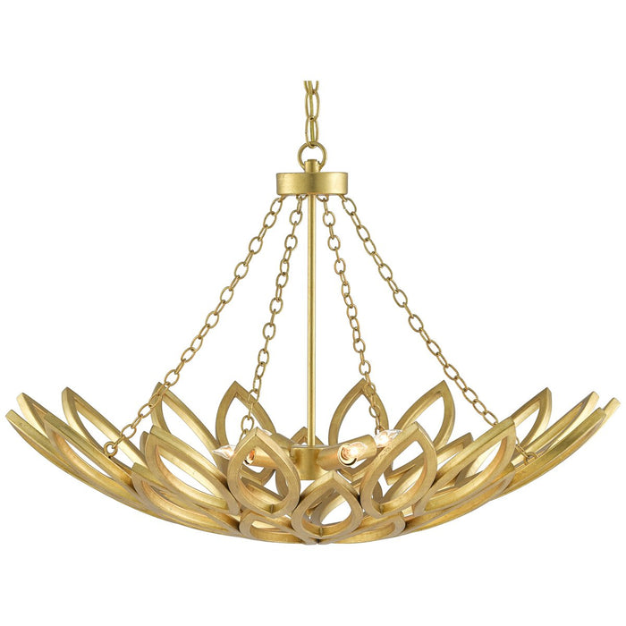 Currey and Company Allemande Gold Chandelier
