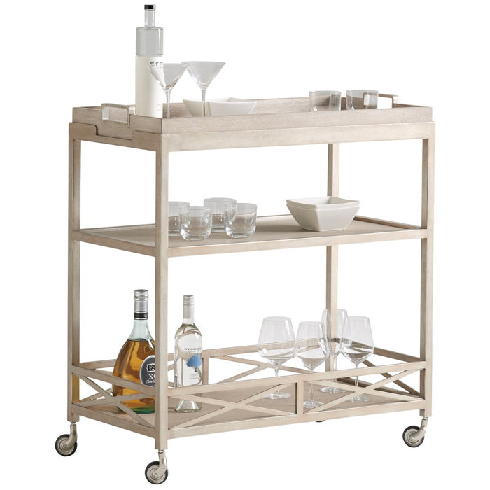 Lexington Malibu Anacapa Metal Bar Cart