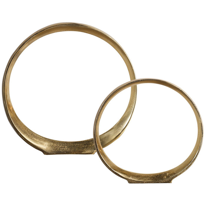 Uttermost Jimena Gold Ring Sculptures - Set of 2