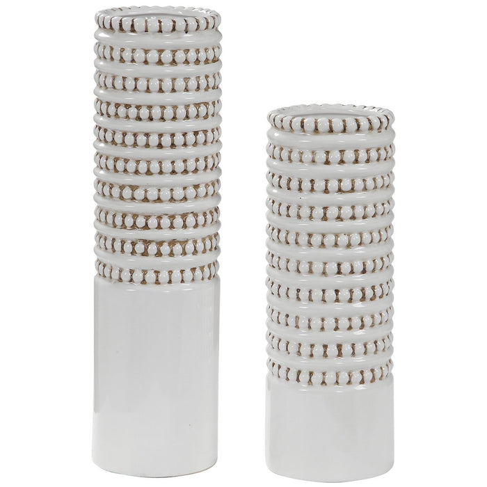 Uttermost Angelou White Vases - Set of 2