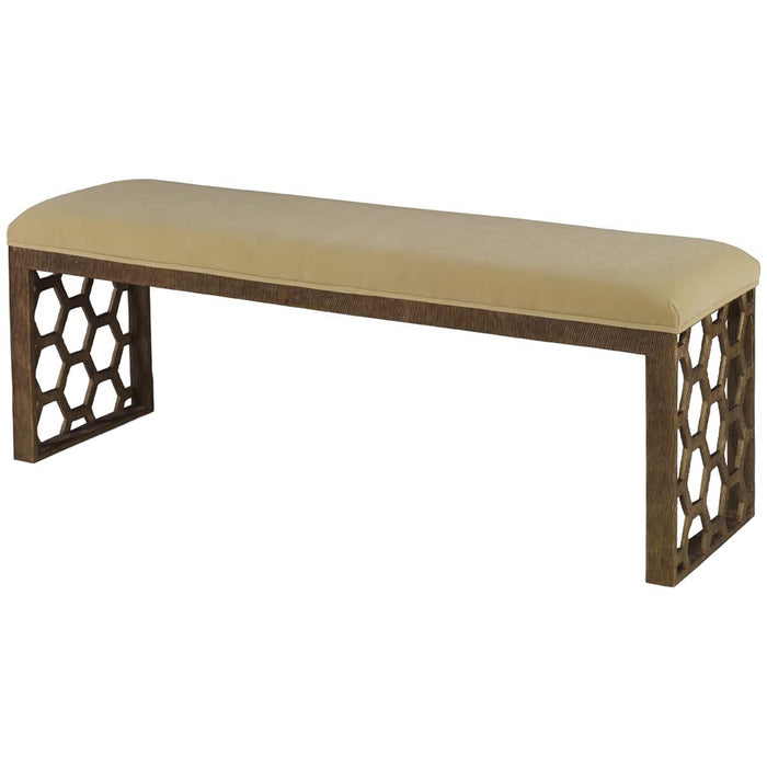 Mr. Brown London Angeline Bench in Linen