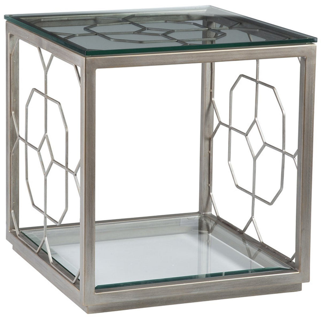 Artistica Home Honeycomb Square End Table 01-2056-957