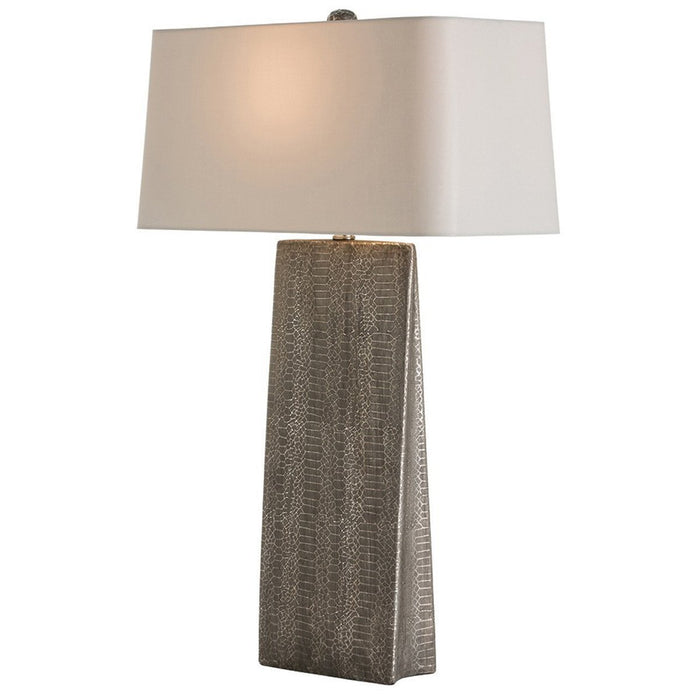 Arteriors Ravi Lamp in Metallic Python Porcelain