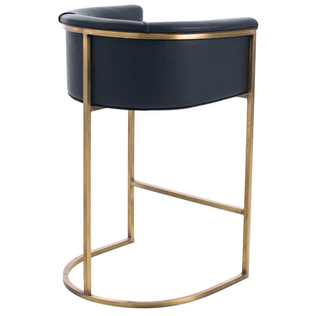 Arteriors Calvin Barstool in Antique Brass