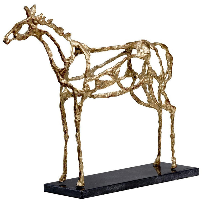 Bungalow 5 Arabian Horse Statue in Gold