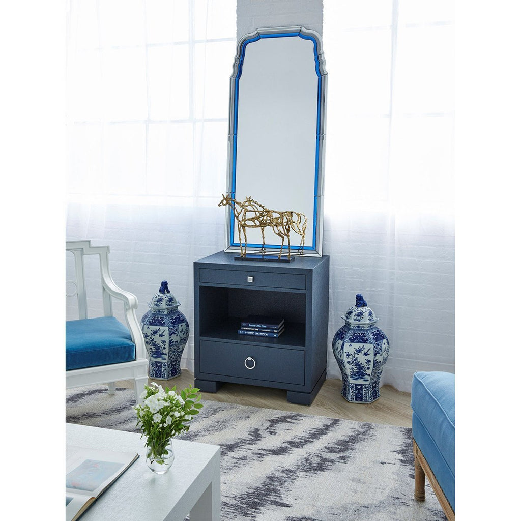 Bungalow 5 Anne Mirror in Sapphire Blue and Gray