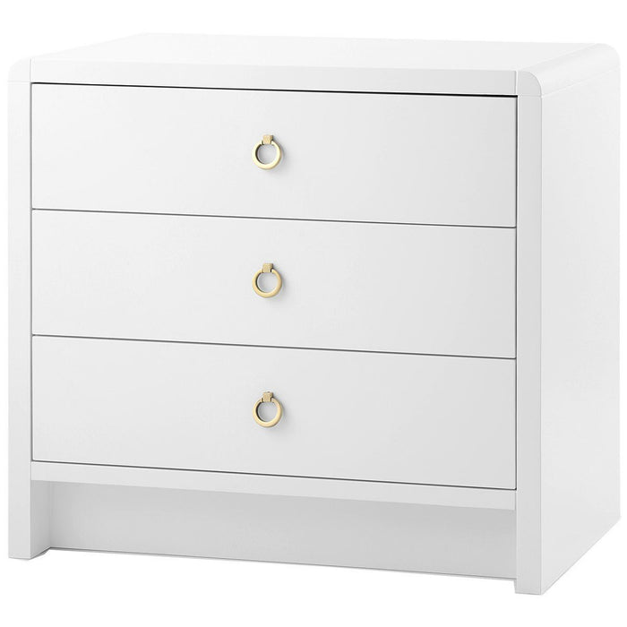 Bungalow 5 White Bryant 3-Drawer Side Table