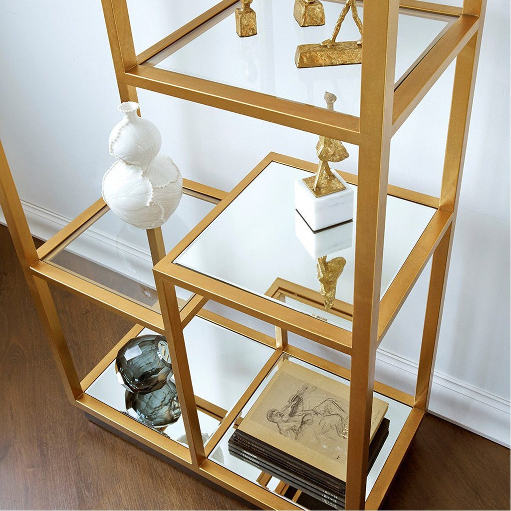 Bungalow 5 Haynes Etagere in Gold