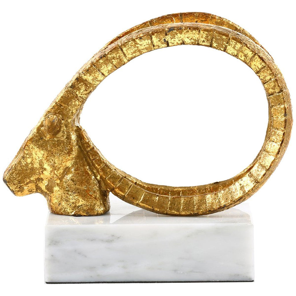 Bungalow 5 Gold Spiral Horn Statue