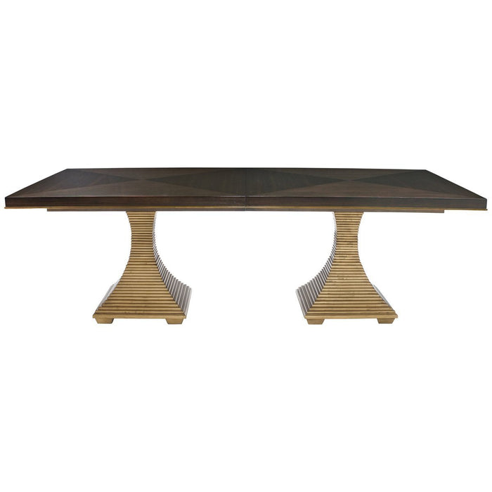 Bernhardt Jet Set Double Pedestal Dining Table