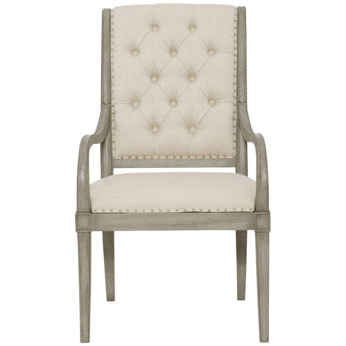 Bernhardt Marquesa Arm Chair with Upholstered Seat Set of 2
