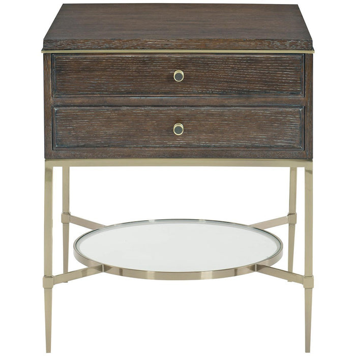 Bernhardt Clarendon Arabica Two Drawers Nightstand